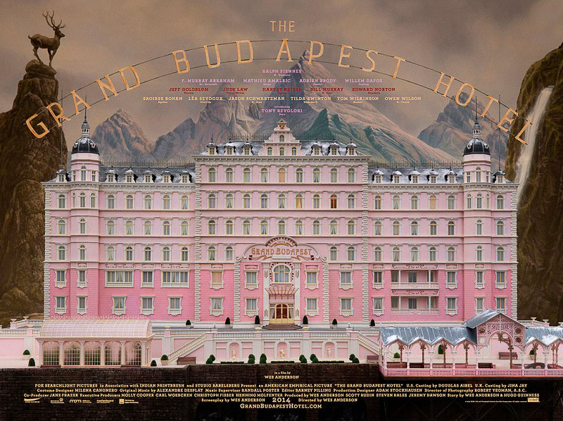 Wes Anderson, The Grand Budapest Hotel, 2014